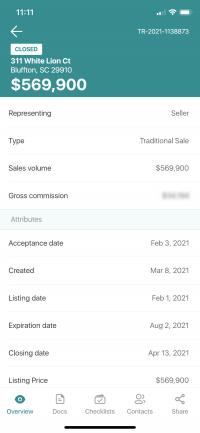 Moul, REALTORS® Transaction Details